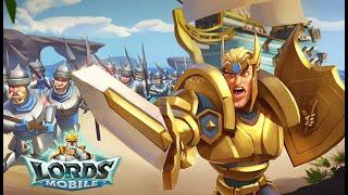 Lords Mobile - Заканчиваю тренировку Т4 войск в новом королевстве