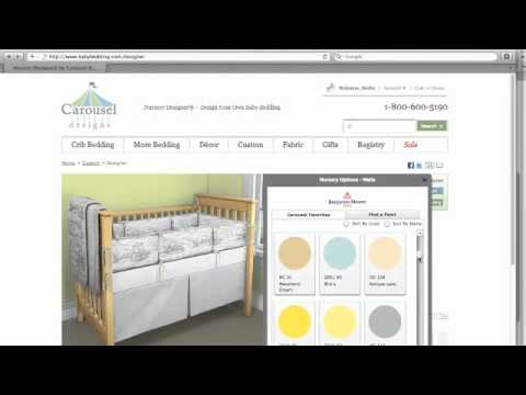 Nursery Ideas ~ Customized Crib Bedding From Carousel Designs