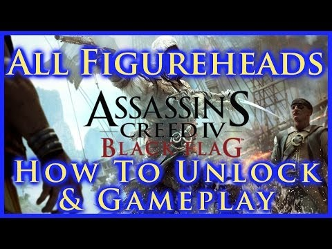 AC IV BLACK FLAG | ALL SHIP FIGUREHEADS | HOW TO UNLOCK & GA