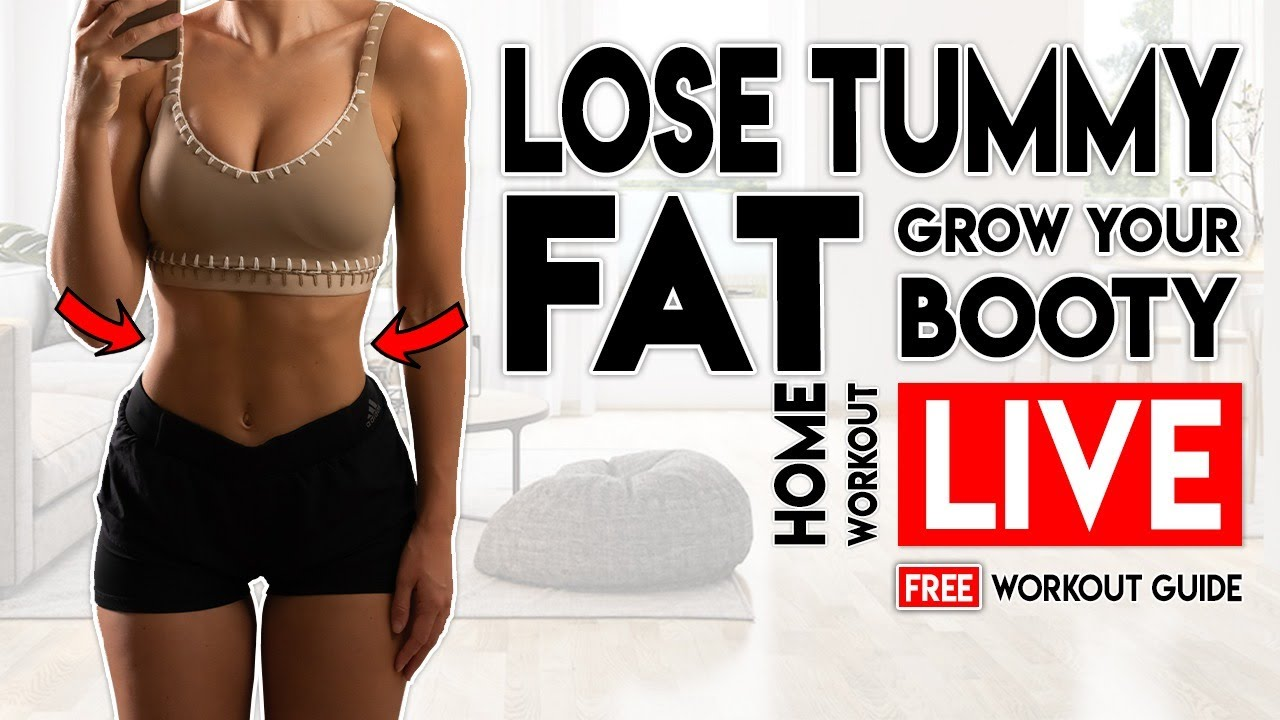<div>Lose Tummy Fat & Grow Your Booty   LIVE Free Home Workout Guide</div>