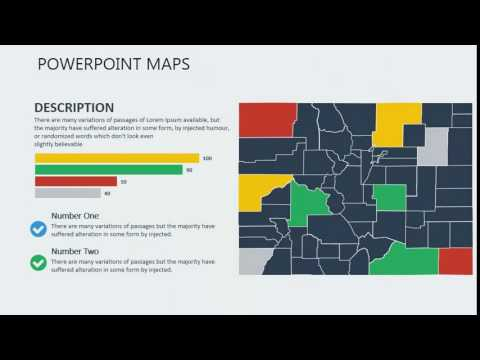PowerPoint maps of Colorado with Counties