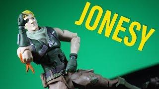 McFarlane Toys Fortnite Jonesy (peau par défaut) 7 pouces Action Figure Review Tfue Meme