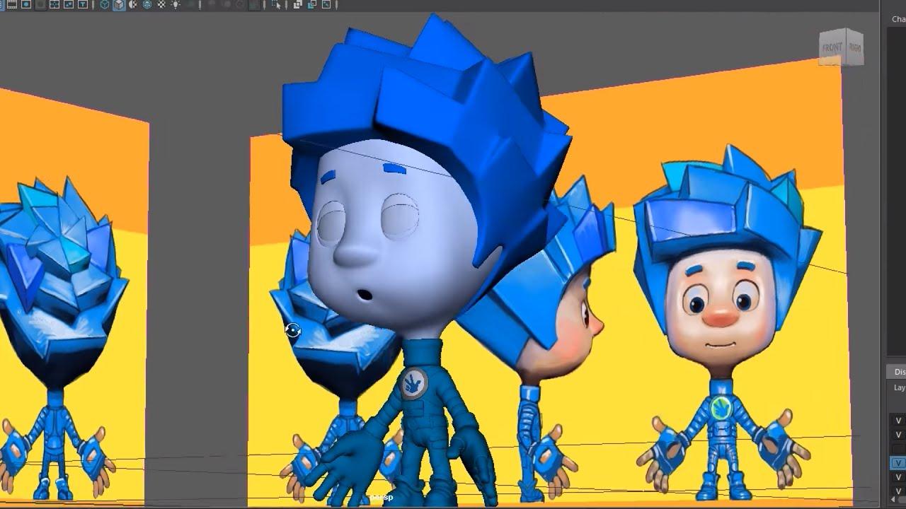 Секреты фиксиков (2). 3D-модели. Как создается мультфильм