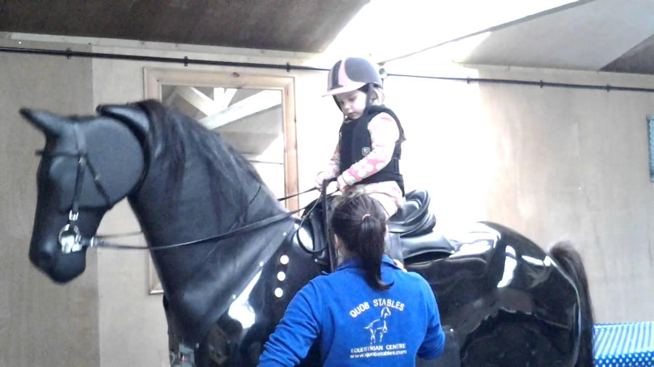 lillie first machanical horse lesson