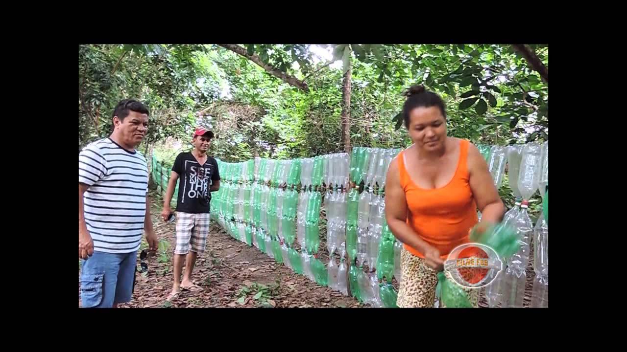 Filme fbb Cerca com garrafas PET  YouTube