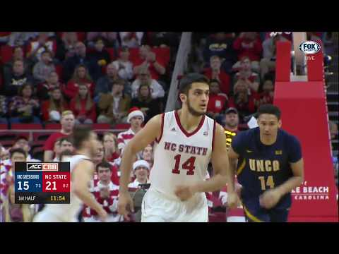 2017.12.16 UNC-Greensboro Spartans at NC State Wolfpack Basketball