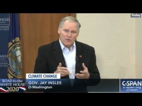 Governor Jay Inslee Explains His Climate Change Agenda At Meet And Greet In New Hampshire
