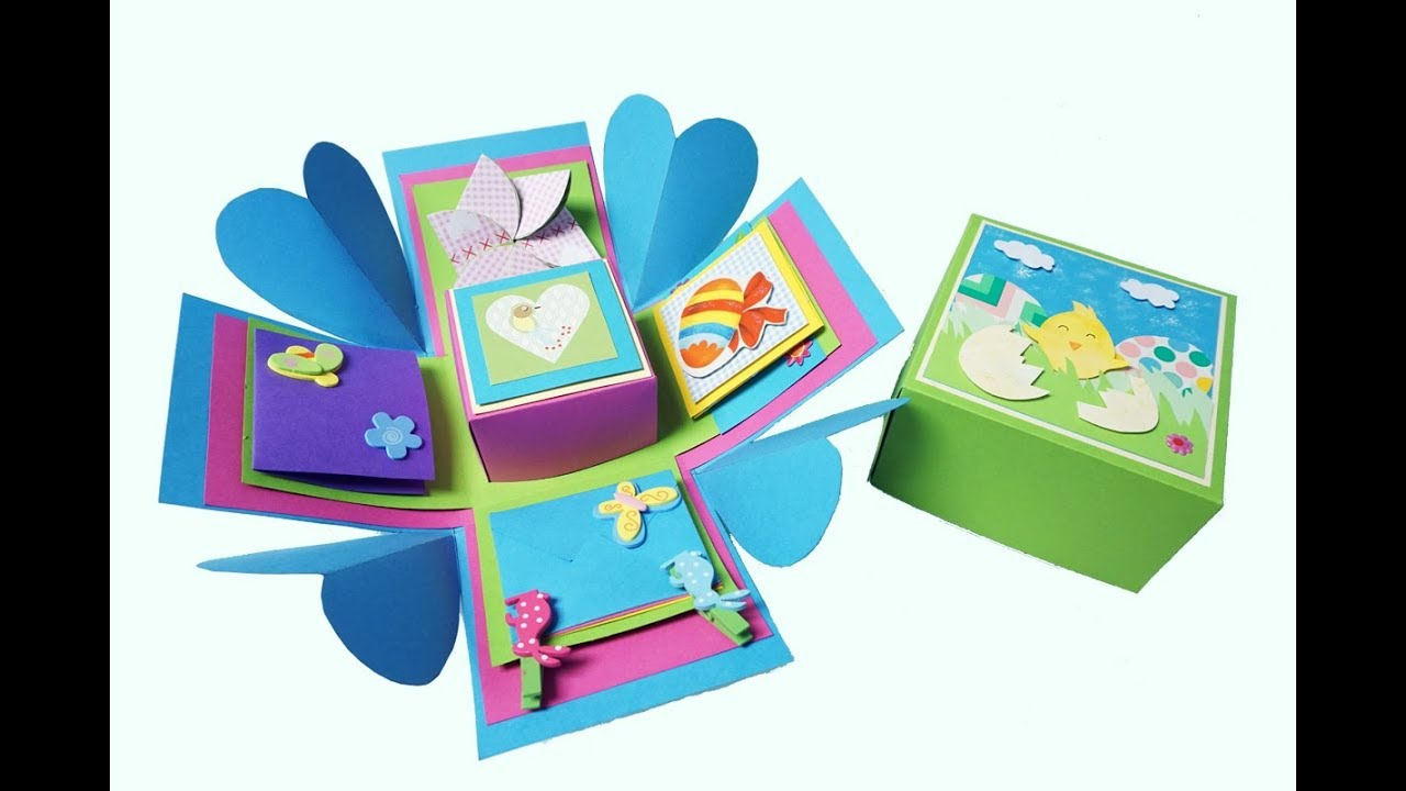 Extrem DIY Exploding Box – DIY Gifts – Geschenkbox Basteln - YouTube KN85