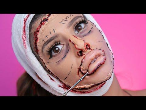 BAD Plastic Surgery Halloween Makeup Tutorial 2016