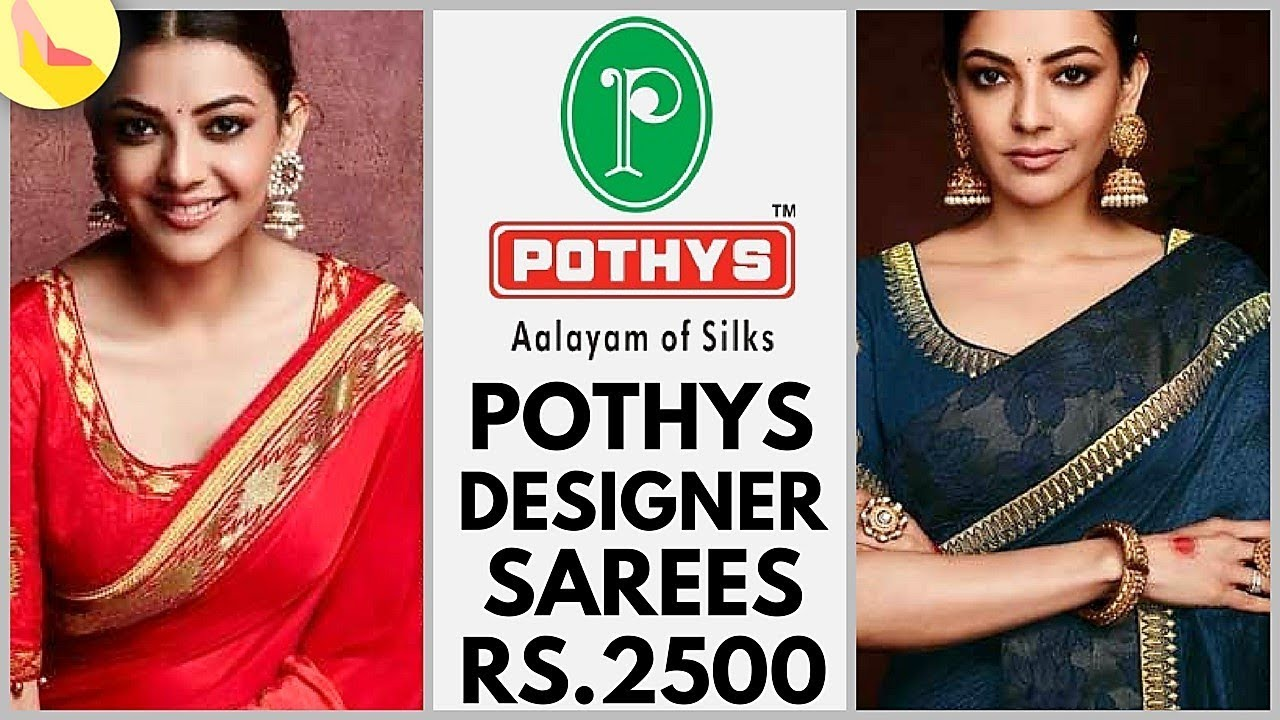 2fe6c108f6351 Pothys Designer Party Wear Sarees 2018 Collection - YouTube