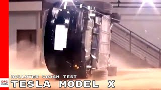 Tesla Model X Rollover Crash Test On Sand