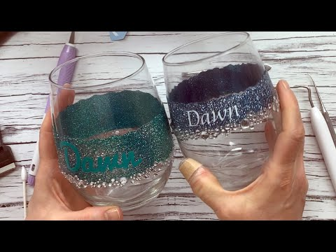 How To DIY Personalized Glitter Wine Glasses