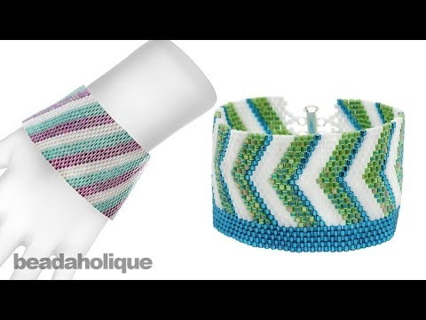 Instructions for Making the Beadaholique Peyote Bracelet Kits with Size 10/0 Beads