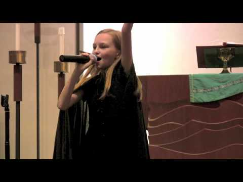 Actress Mikayla Shae Chapman singing Defying Gravity