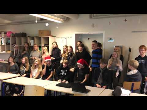 Danish students sing a children's Xmas song
