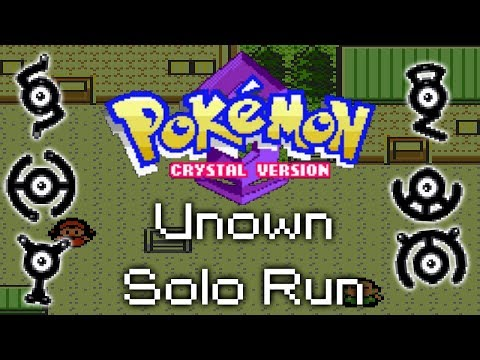 Pokemon Crystal - The Unown Solo Run Challenge