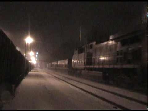 Railfanning in a FREEZING Snowstorm on the CSX Boston Line's East End [Newtonville, MA]