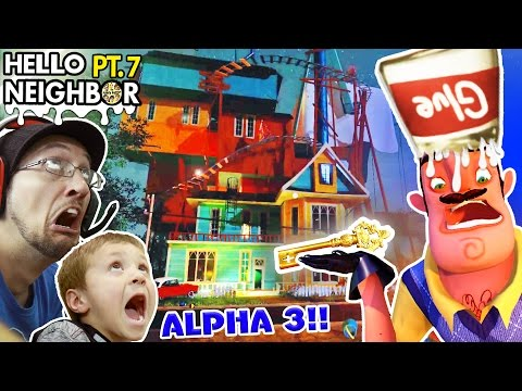 goodbye-hello-neighbor!!-horrible-alpha-3-update?-glue-smashing-+-key-gameplay!-(fgteev-part-7)