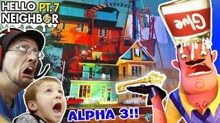 Goodbye Hello Neighbor!! Horrible Alpha 3 Update? Glue Smashing   Key Gameplay! (fgteev Part 7)