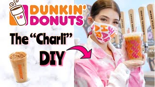 HOW TO MAKE THE CHARLI DRINK AT HOME!  Charli D&#39amelio Coffee Dunkin&#39 Drink
