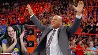 WWE Raw 4/3/17 KURT ANGLE New Raw GM