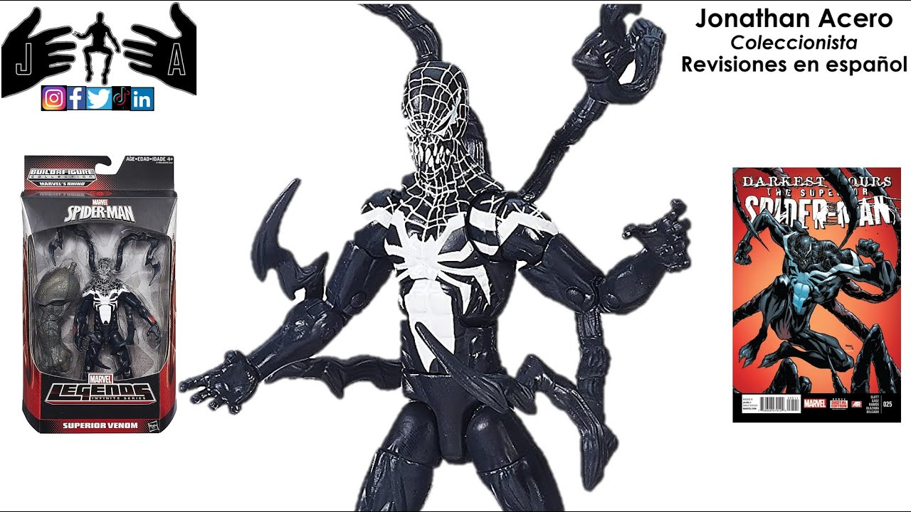 superior venom amp venom alien marvel legends toy review