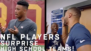 NFL Players Surprise High School Football Teams