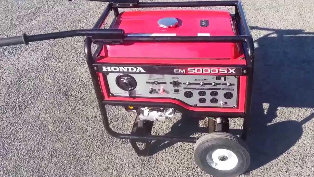 honda generator em5000sx 5kw pull start from gotpower youtube rh youtube com 2017 Honda Civic Si Interior Honda Coupe