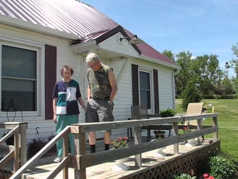 "Lowell and Virginia ""Tiny"" Burns talk about their 2014 tornado at Laurel, Neb."