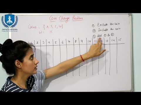 Coin Change Problem Number of ways to get total | Dynamic Programming | Algorithms