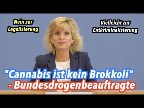 """""""Cannabis ist kein Brokkoli"""" - Bundesdrogenbeauftragte über Legalisierung & Entkriminalisierung"""