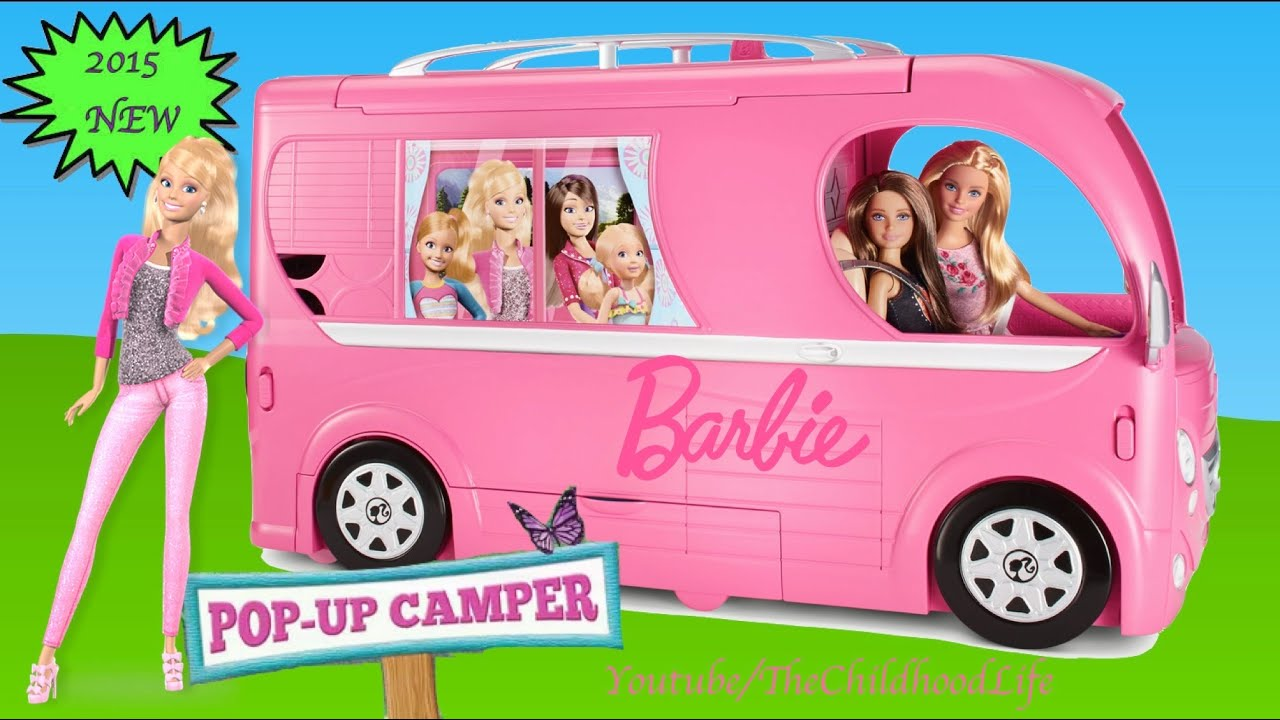 Barbie Pop Up Camper 2015 Unboxing And Tour  Barbie Dolls Life In The  Dreamhouse   YouTube