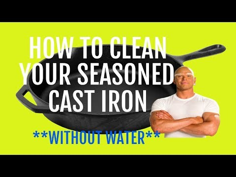 How to Clean Your Seasoned Cast Iron Pan (Without Water)