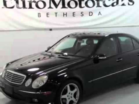 2005 mercedes benz e class e500 sedan bethesda md youtube for Mercedes benz bethesda md