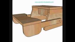 Diy Instructions For Kids Bench Step Stool.wmv