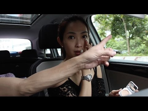 sarah does make up in the car, jason drives the car 宋熙年 車上化個快妝,陳智燊 做司機