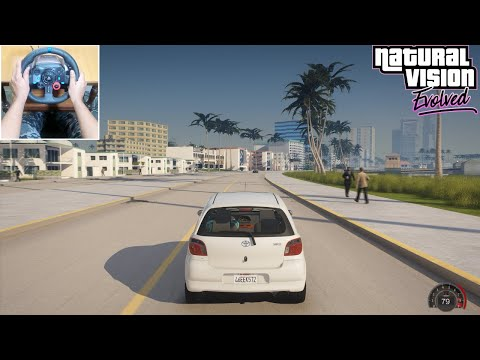 GTA: Vice City Remastered 2020 Toyota Vitz Gameplay With Tommy Vercetti [GTA 5 PC Mod]