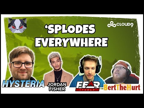 Hysteria  Fortnite Battle Royale  Splodes Everywhere with Jordan Fisher, Fearitself & BertTheHurt