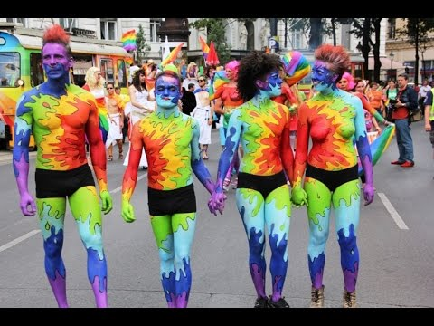 Киев ЛГБТ марш равенства - YouTube