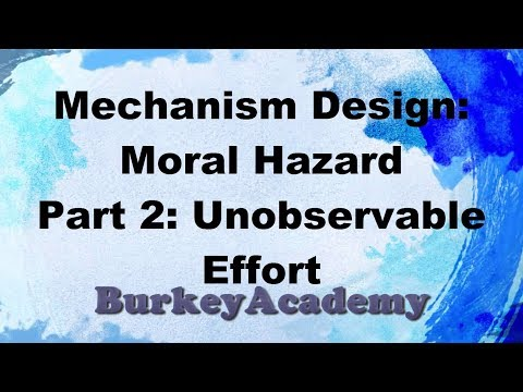 Principal Agent Models Part 2: Moral Hazard with Hidden Actions