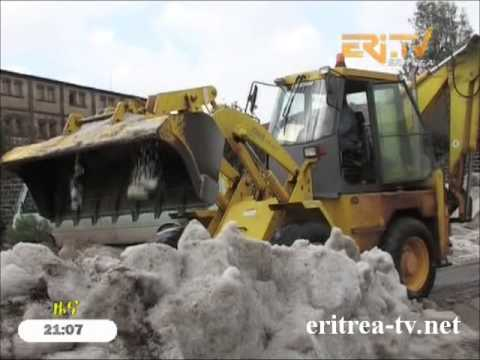 Eritrean News - Snow cleanup in Asmara - Cathedrale