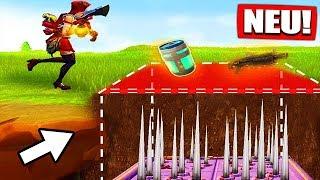 INVISIBLE FALLEN GLITCH | For ALWAYS UNSICHTBAR! - Fortnite Battle Royale | The Fruit Dwarf