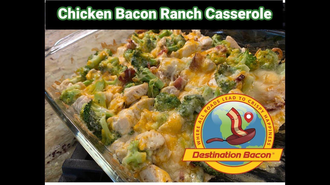 Easy Chicken,Bacon & Ranch Casserole with Broccoli!