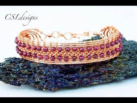 Wire woven kumihimo bracelet