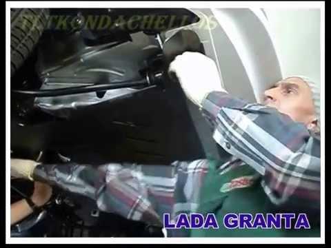 LADA GRANTA - установка защиты (Kondachello) - YouTube