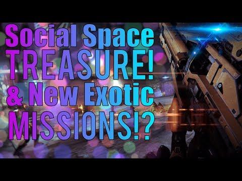 Destiny 2 - Possible New Exotic Quest, Hidden Social Space Treasure & New Raid Emblems!