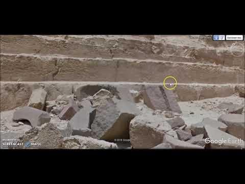 Giza Pyramids ~ Parts Of Bases - NOT Stone Blocks