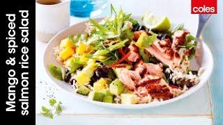 How To Make Mango & Spiced Salmon Rice Salad