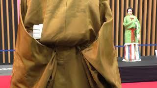 <等身大宮廷装束>黄櫨染御袍(こうろぜんのごほう)  Emperor's robe in the enthronement ceremony