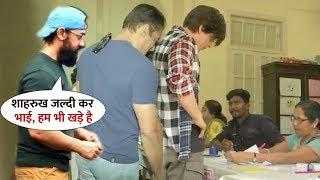 Salman-Shahrukh-Aamir Back to Back Voting on Same Polling for Maharashtra Election2019 | Many Celebs